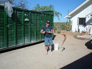 Allstate Animal Control photo trapper with snake